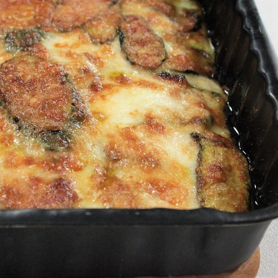 Parmigiana di zucchine fior di latte e provola affumicata