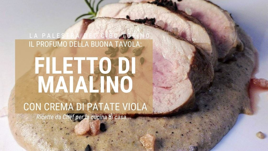 filetto di maiale con patate viola
