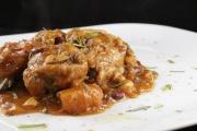 pollo e zucca con fagioli rossi