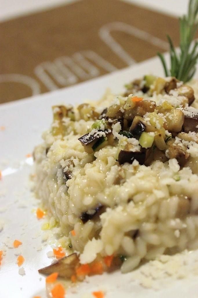 Risotto con zucchine, melanzane e Castelmagno
