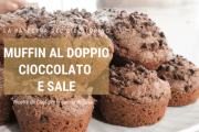 Muffins al doppio cioccolato e sale