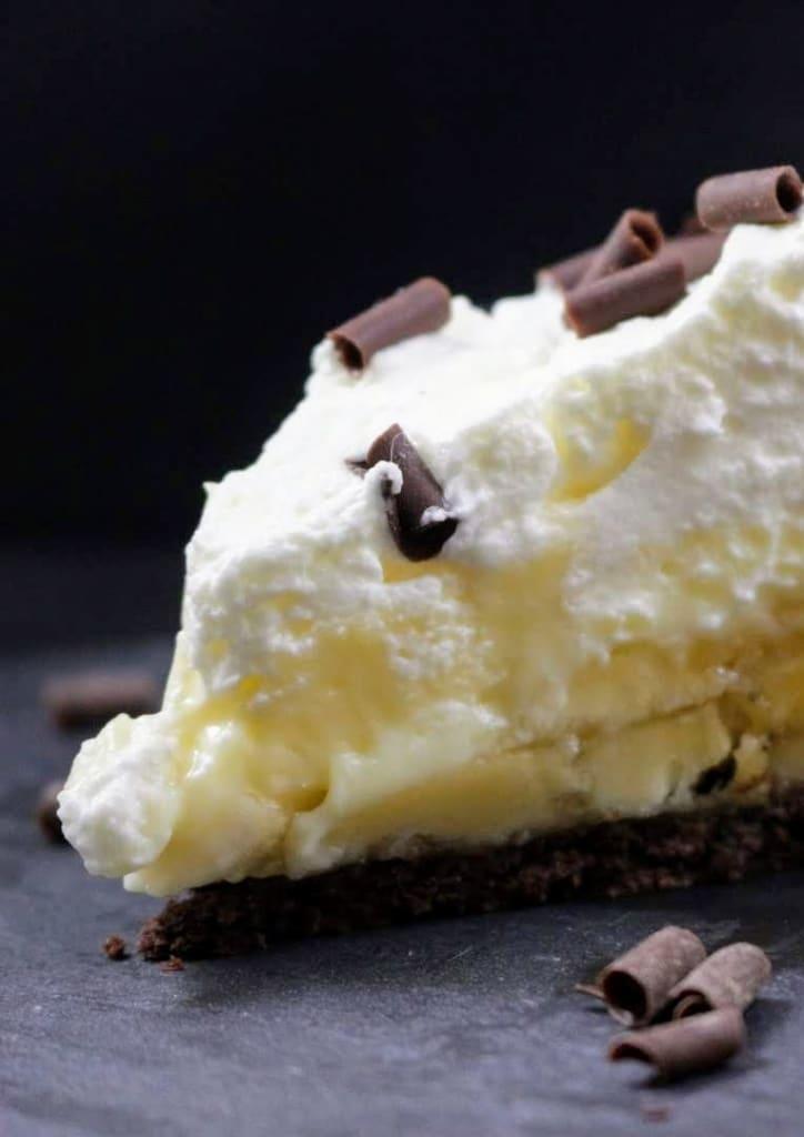ricetta banana cream pie