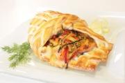 Trota salmonata in crosta con verdure
