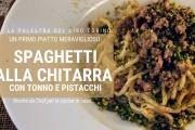 spaghetti alla chitarra con tonno e pistacchi