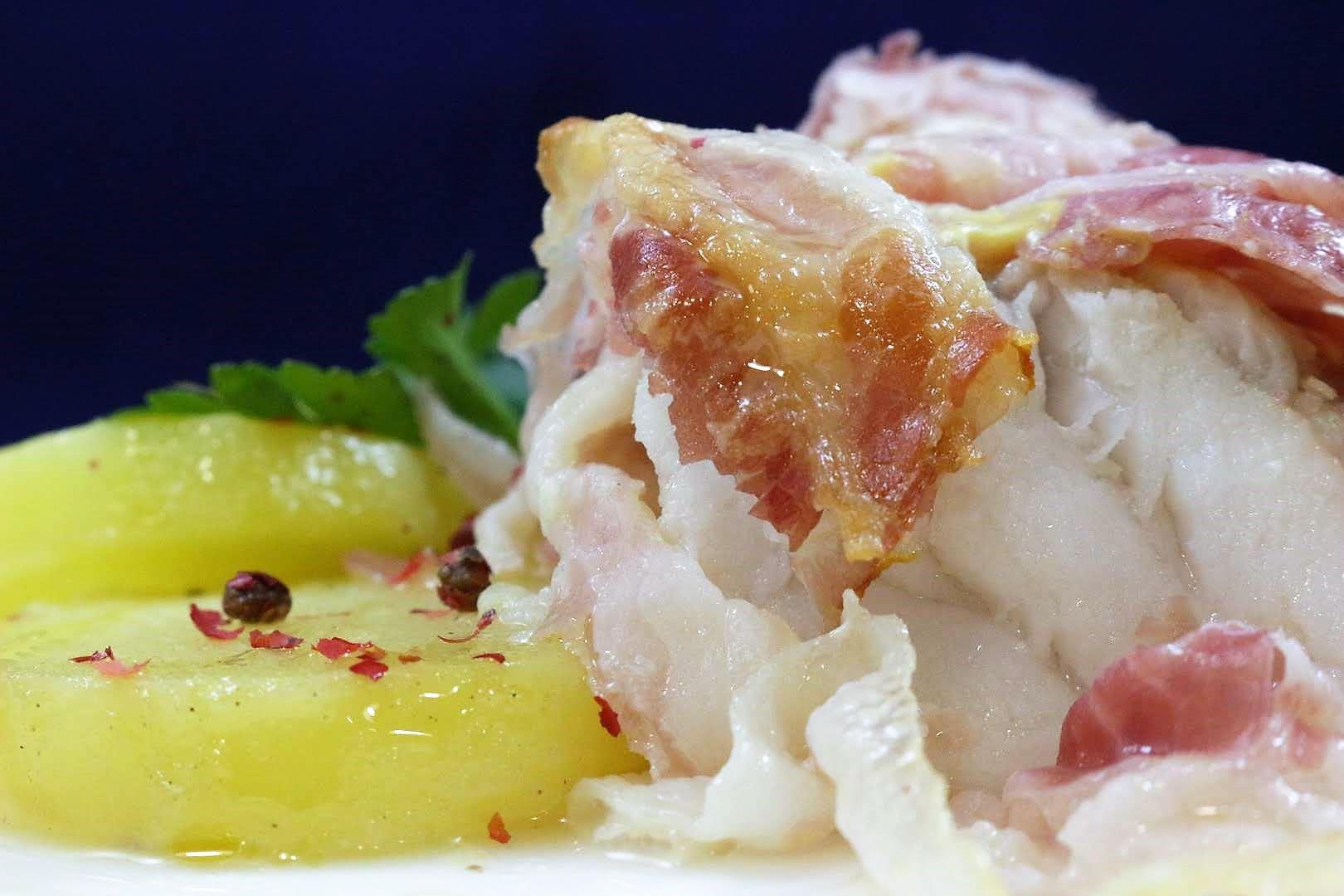 coda di rospo con patate al profumo di rosmarino