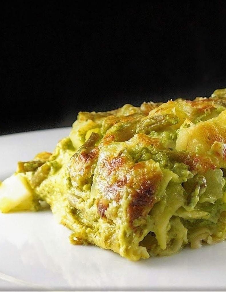 ricetta lasagne con il pesto e i fagiolini