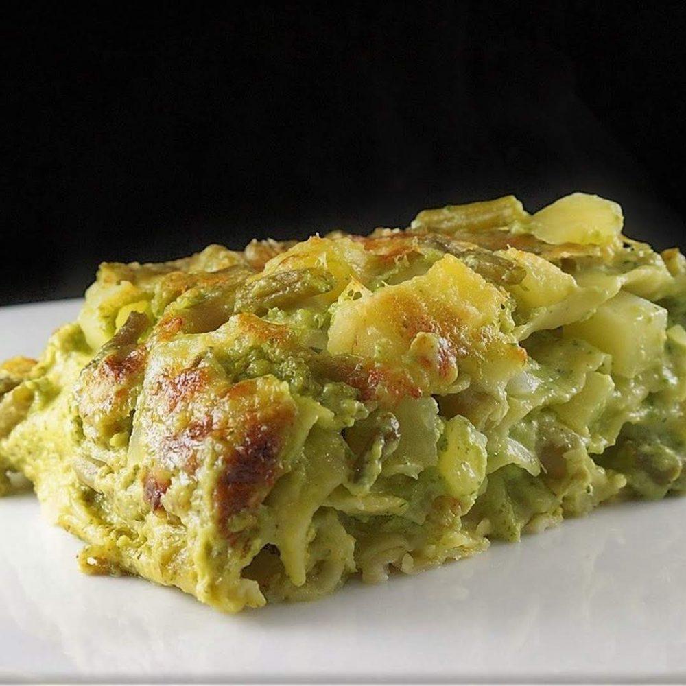 lasagne estive al pesto genovese fagiolini e patate