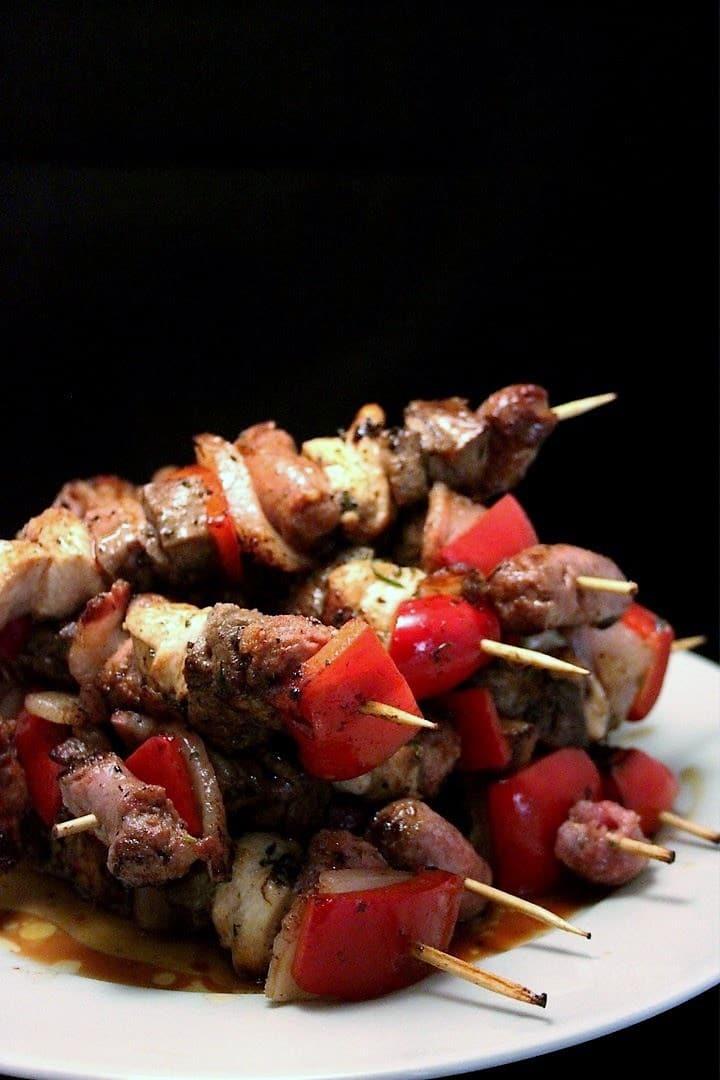 spiedini di carne alla paprika