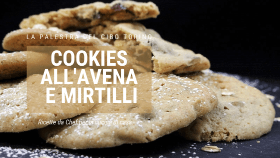 Cookies all'avena e mirtilli