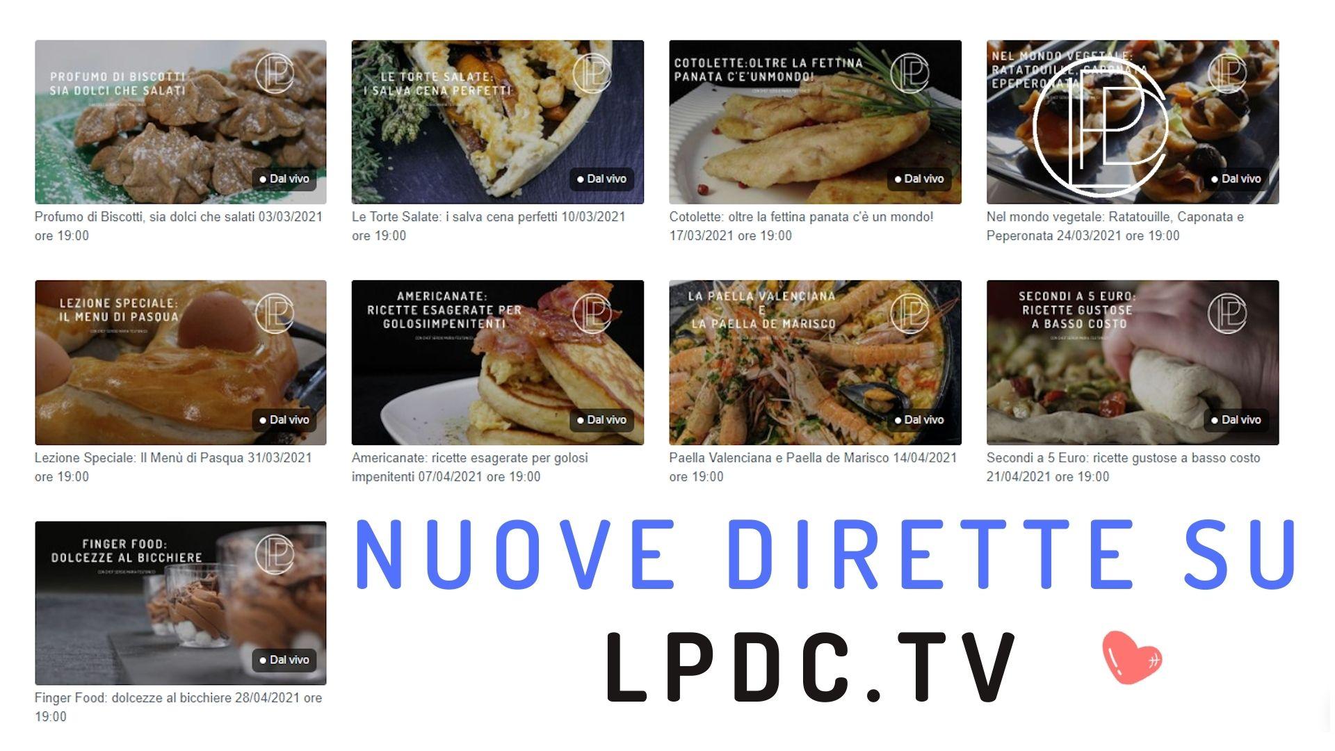 nuovi corsi di cucina online la palestra del cibo TV