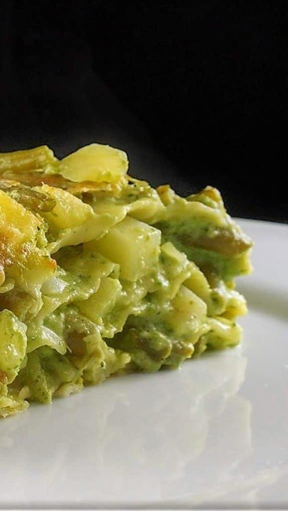 ricetta lasagne alla genovese con fagiolini e patate